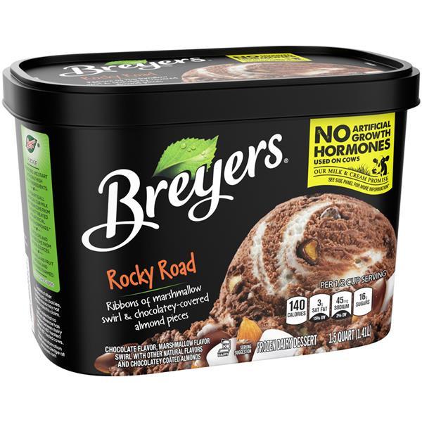 Breyers Frozen Dairy Dessert  Breyers Rocky Road Frozen Dairy Dessert