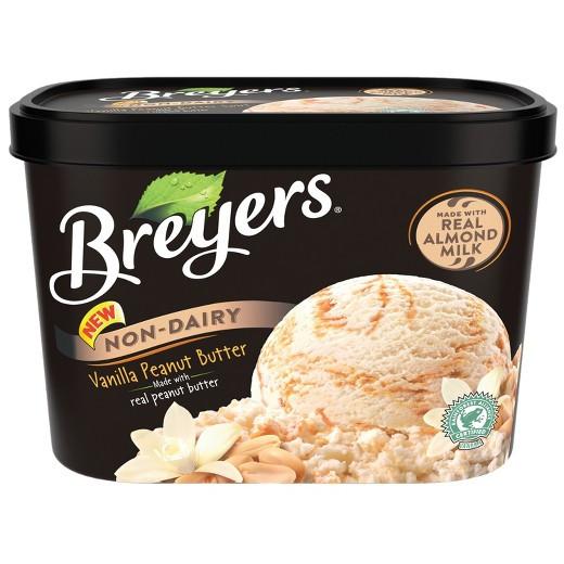 Breyers Frozen Dairy Dessert  Breyers Non Dairy Vanilla Peanut Butter Frozen Dessert