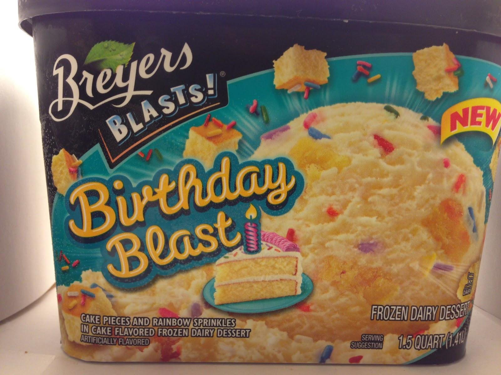 Breyers Frozen Dairy Dessert  Crazy Food Dude Review Breyers Blasts Birthday Blast