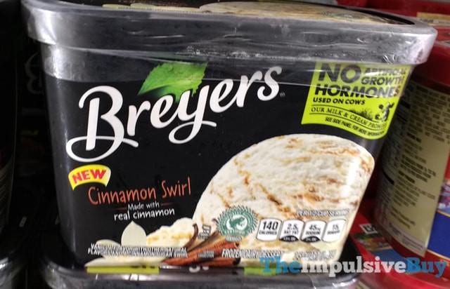 Breyers Frozen Dairy Dessert  SPOTTED ON SHELVES Breyers Cinnamon Swirl and Chocolate