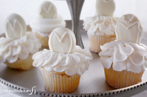 Bridal Shower Cupcakes  Bridal shower cupcakes Everyday Dishes