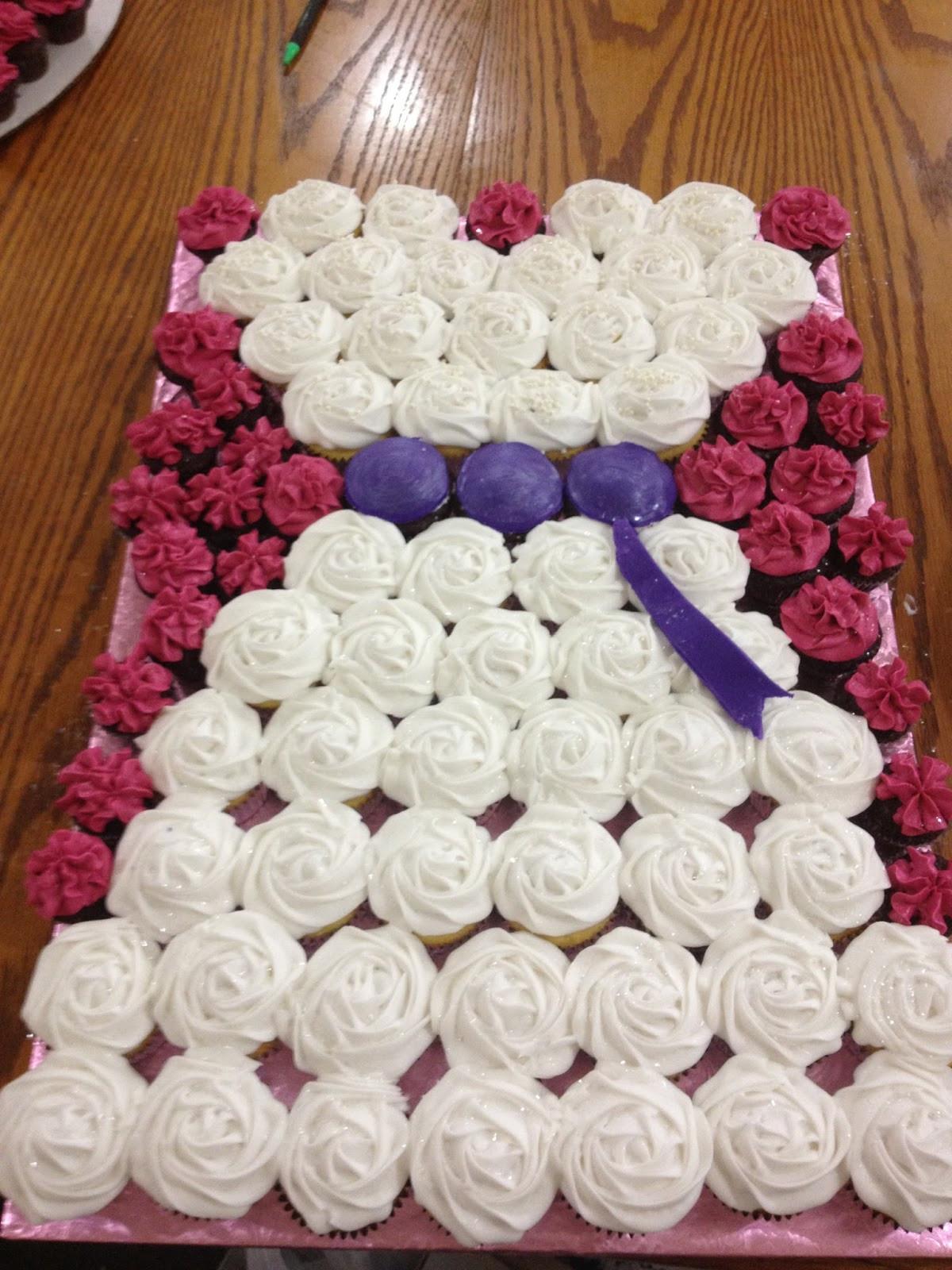 Bridal Shower Cupcakes  Life and Other Shenanigans Bridal Shower Cupcake Arrangement
