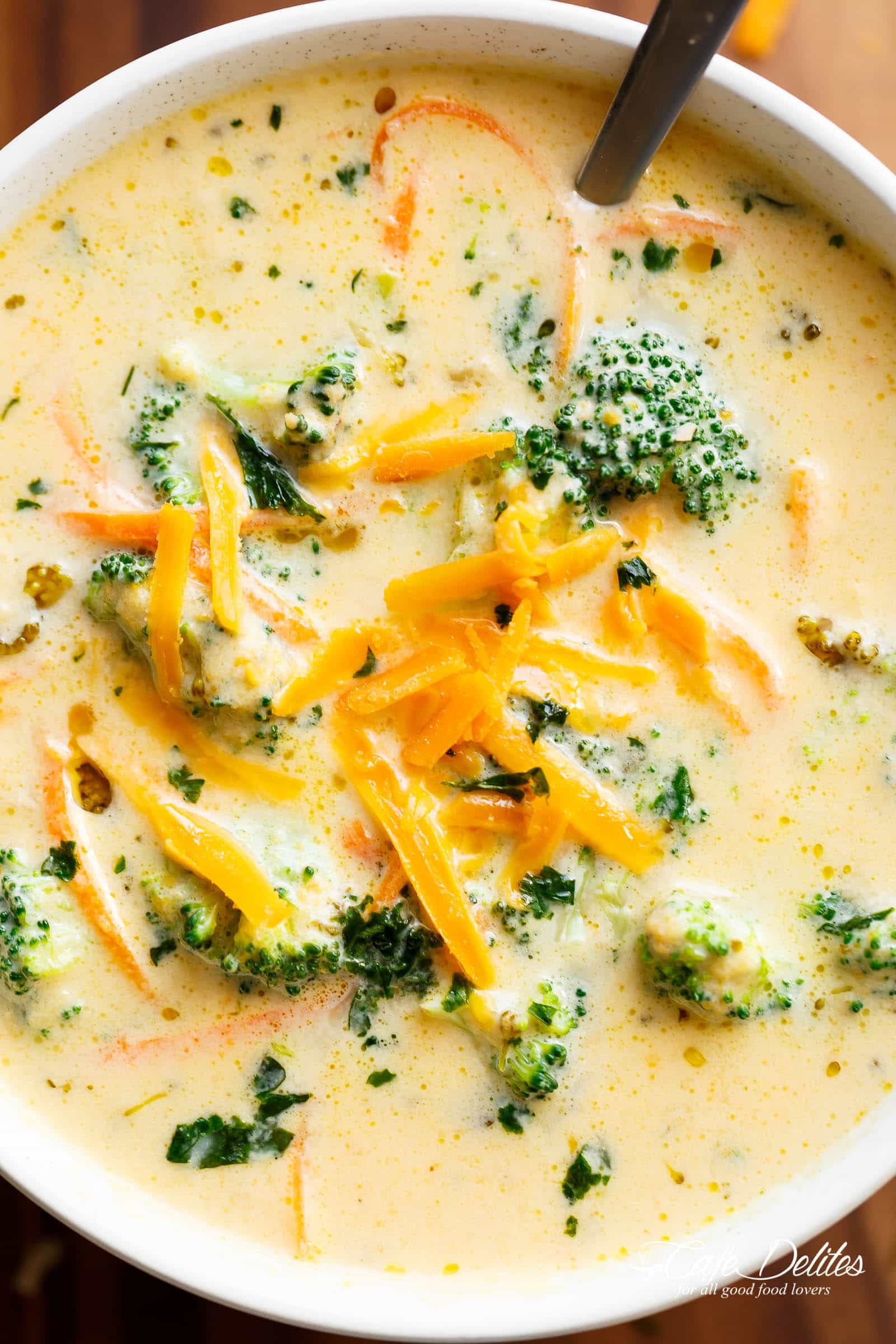 Broccoli And Cheddar Soup  Easy Broccoli Cheese Soup Cafe Delites