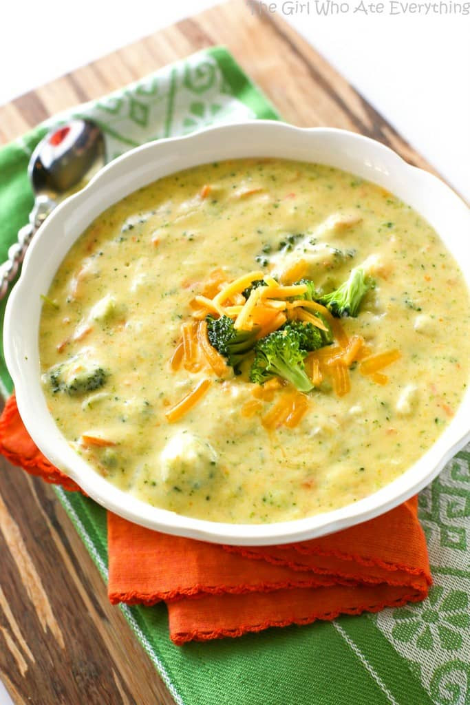 Broccoli And Cheddar Soup  Panera s Broccoli Cheese Soup The Girl Who Ate Everything