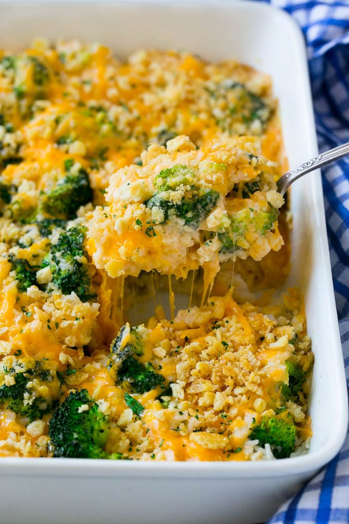 Broccoli Cheese Rice  Broccoli and Cheese Casserole Dinner at the Zoo