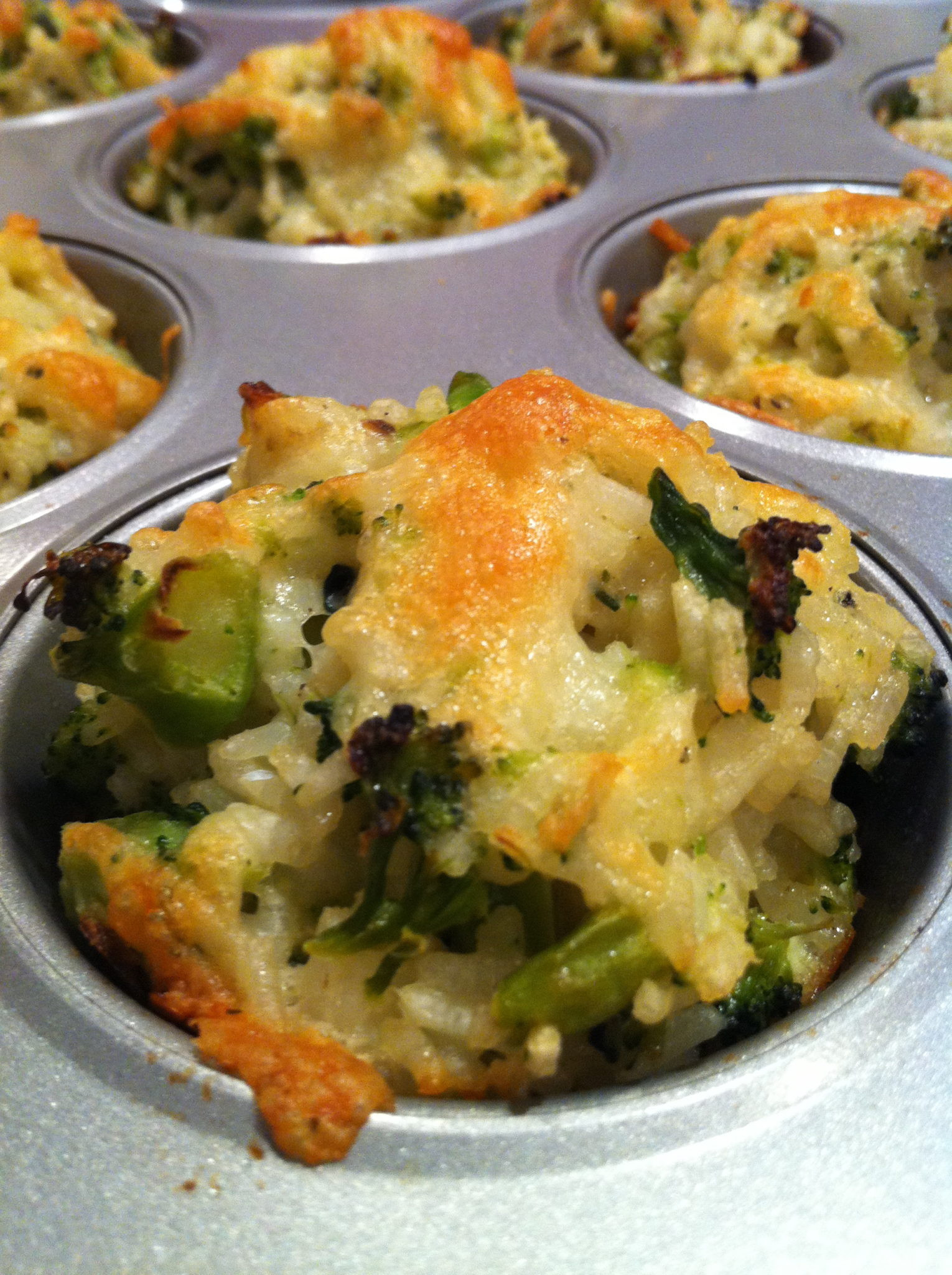 Broccoli Cheese Rice  Baked Cheddar Broccoli Rice Cups – The Fountain Avenue Kitchen