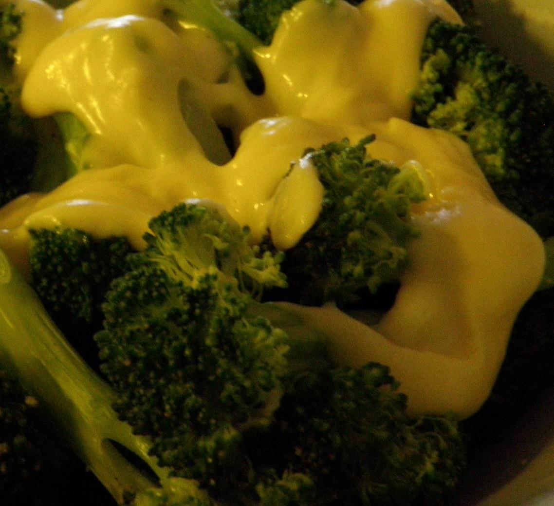Broccoli Cheese Sauce  Sandra s Alaska Recipes SANDRA S STEAMED BROCCOLI with