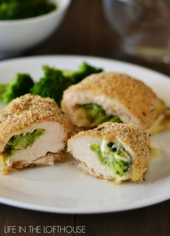 Broccoli Stuffed Chicken  Broccoli and Cheese Stuffed Chicken