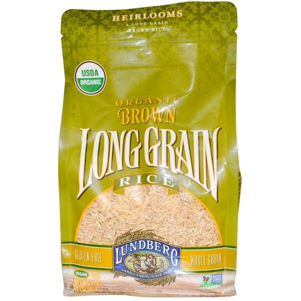 Brown Rice Brands  Lundberg Organic Brown Long Grain Rice 32 oz 907 g