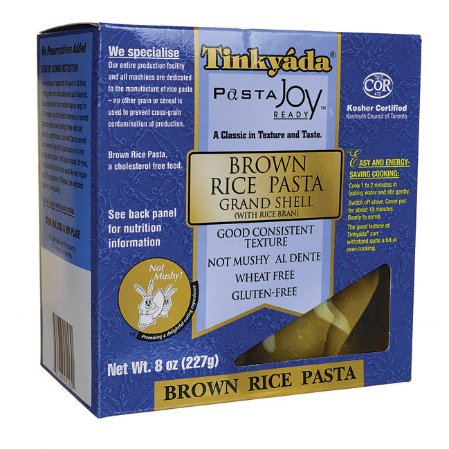 Brown Rice Brands  Tinkyada Brown Rice Pasta Grand Shell 8 oz Pkg Swanson