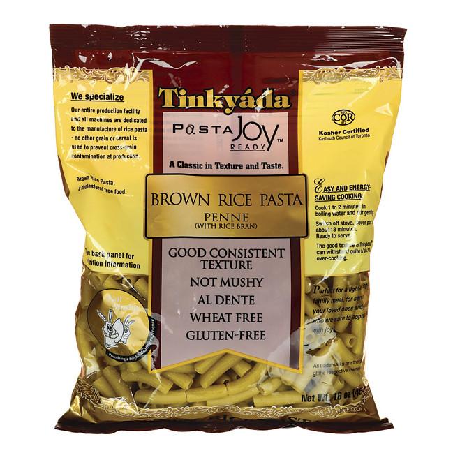 Brown Rice Brands  Tinkyada Brown Rice Pasta Penne 16 oz Pkg Swanson Health