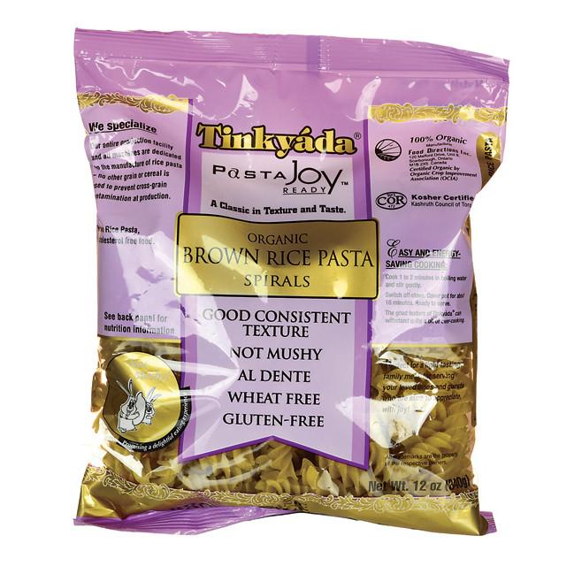 Brown Rice Brands  Tinkyada Organic Brown Rice Pasta Spirals 12 oz Pkg Swanson