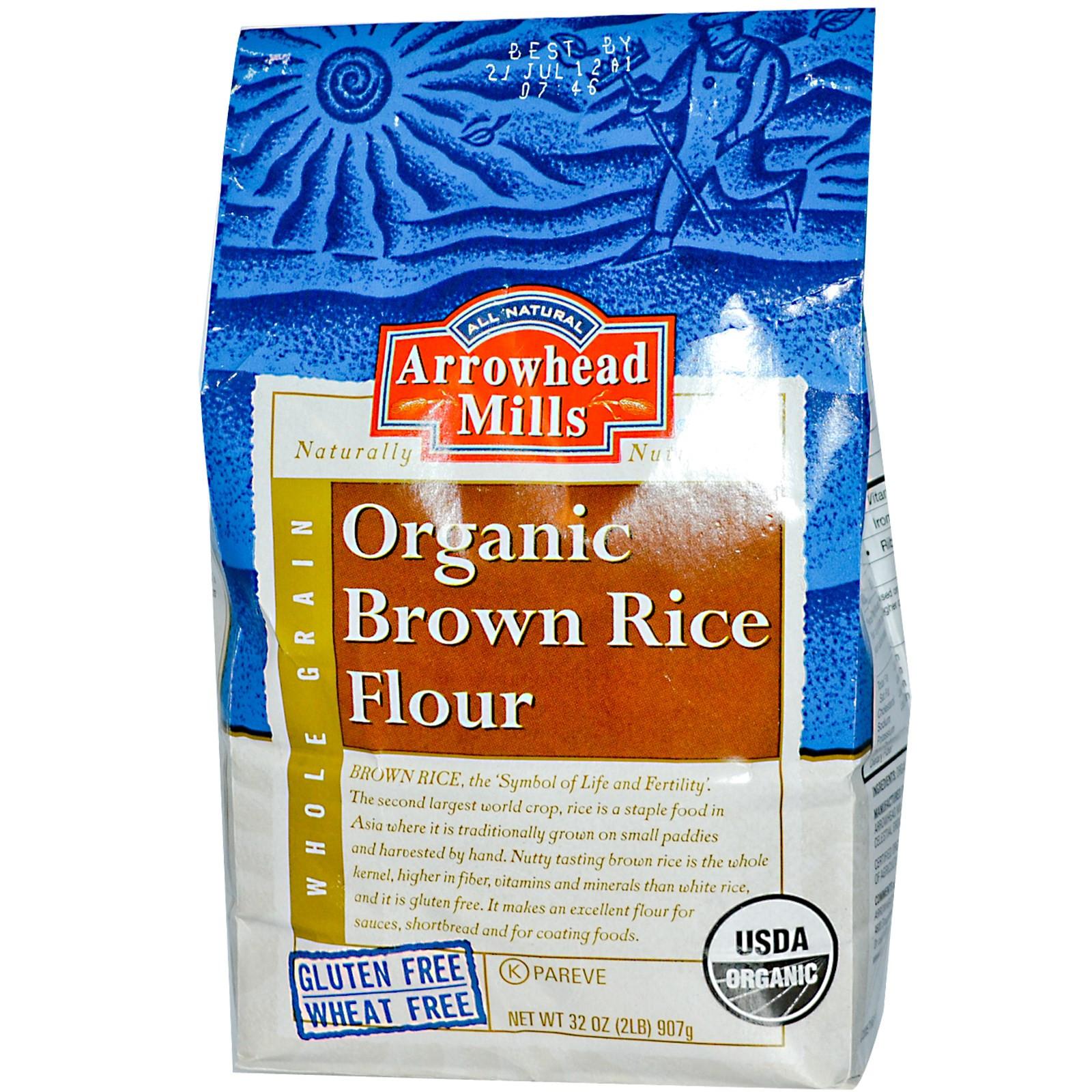 Brown Rice Brands  Arrowhead Mills Organic Brown Rice Flour 32 oz 907 g