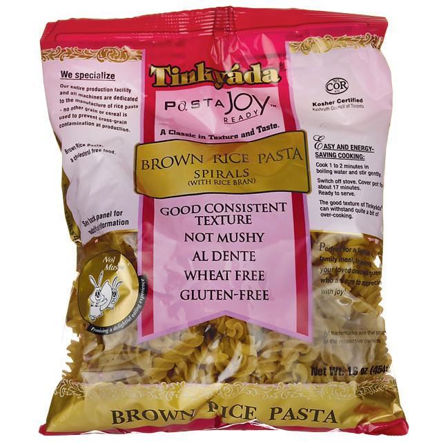 Brown Rice Brands  Tinkyada Brown Rice Pasta Spirals 16 oz Pkg Swanson