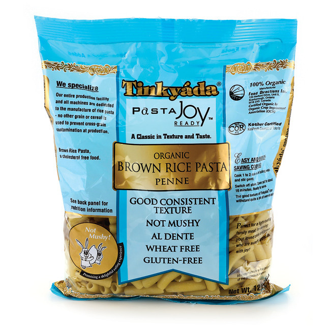 Brown Rice Brands  Tinkyada Organic Brown Rice Penne Pasta 12 oz Pkg