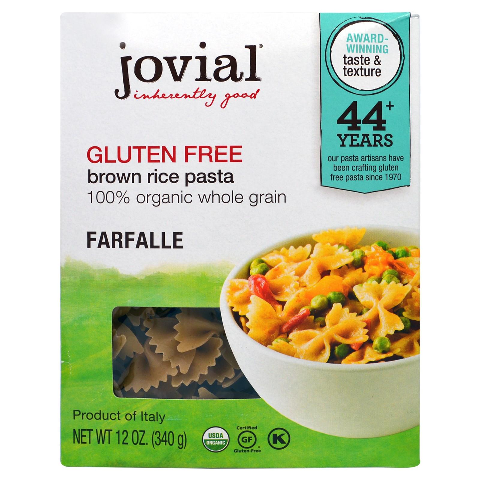 Brown Rice Brands  Jovial Organic Brown Rice Pasta Farfalle 12 oz 340 g