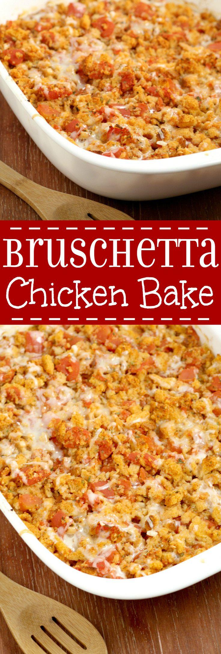 Bruschetta Chicken Bake  Bruschetta Chicken Bake