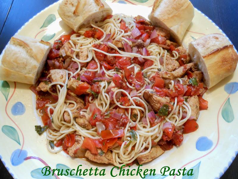 Bruschetta Chicken Pasta  Flavors by Four Bruschetta Chicken Pasta