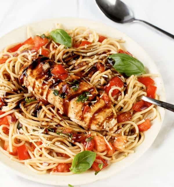 Bruschetta Chicken Pasta  Chicken Bruschetta Pasta Salad Cafe Delites