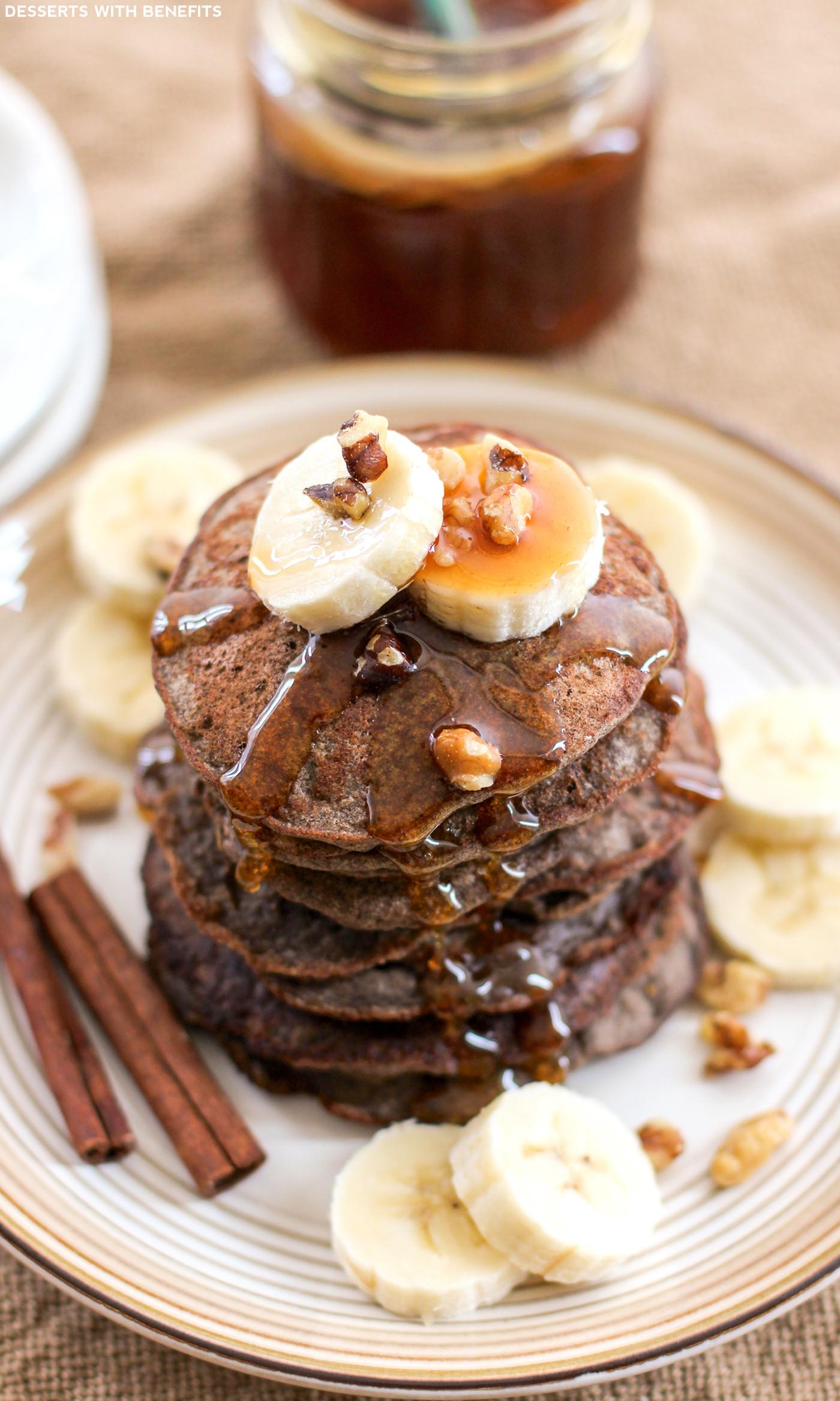 Buckwheat Pancakes Recipe  Healthy Banana Buckwheat Pancakes Recipe low fat gluten