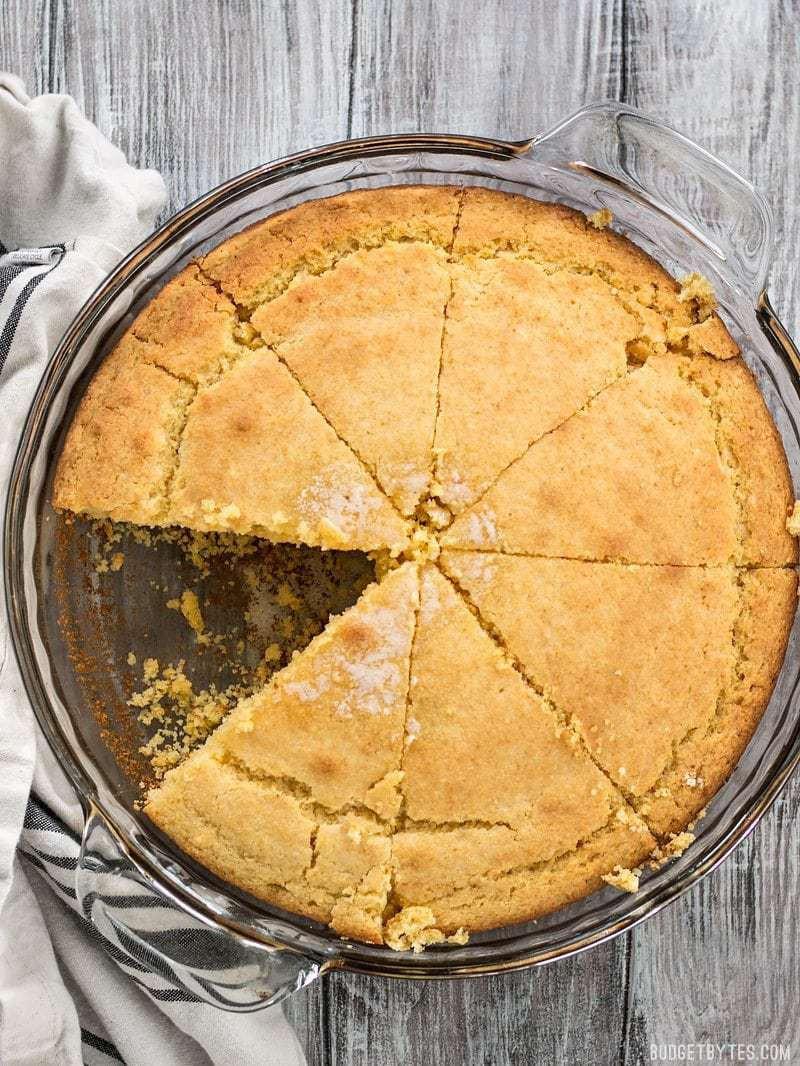 Budget Bytes Cornbread  Easy Homemade Cornbread From Scratch Bud Bytes