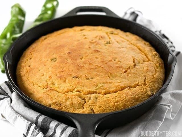 Budget Bytes Cornbread  Hatch Chile Sweet Potato Cornbread Bud Bytes