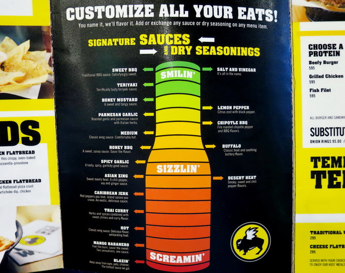 Buffalo Wild Wings Sauces  New York The Big Apple Dining Report Nov 15 Warning