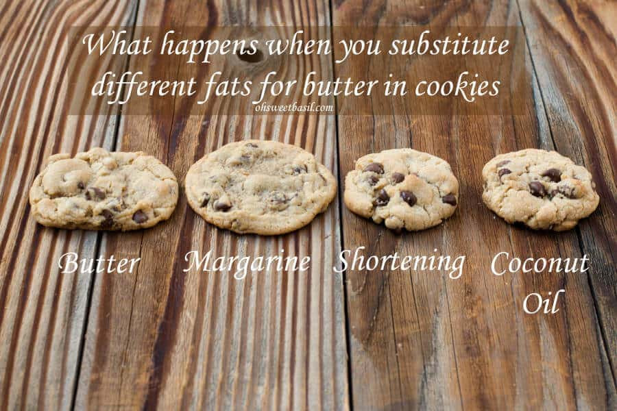 Butter Substitute Cookies  Substituting in Chocolate Chip Cookies Oh Sweet Basil