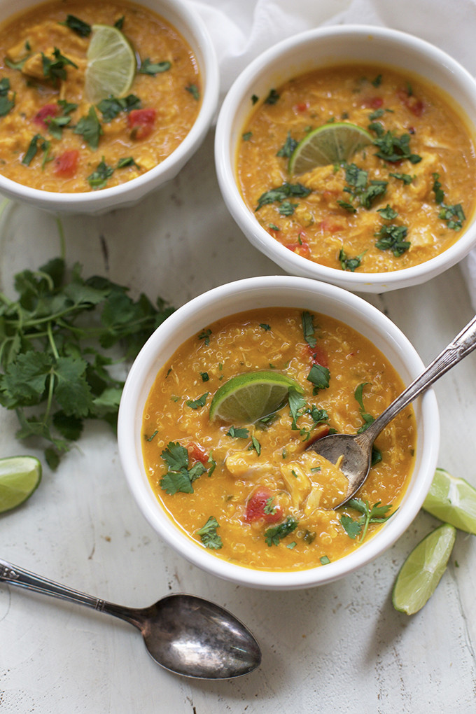 Butternut Squash Soup Slow Cooker  Slow Cooker Thai Chicken and Butternut Soup e Lovely Life