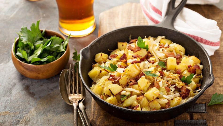 Cabbage And Potatoes  Fried Cabbage and Potatoes