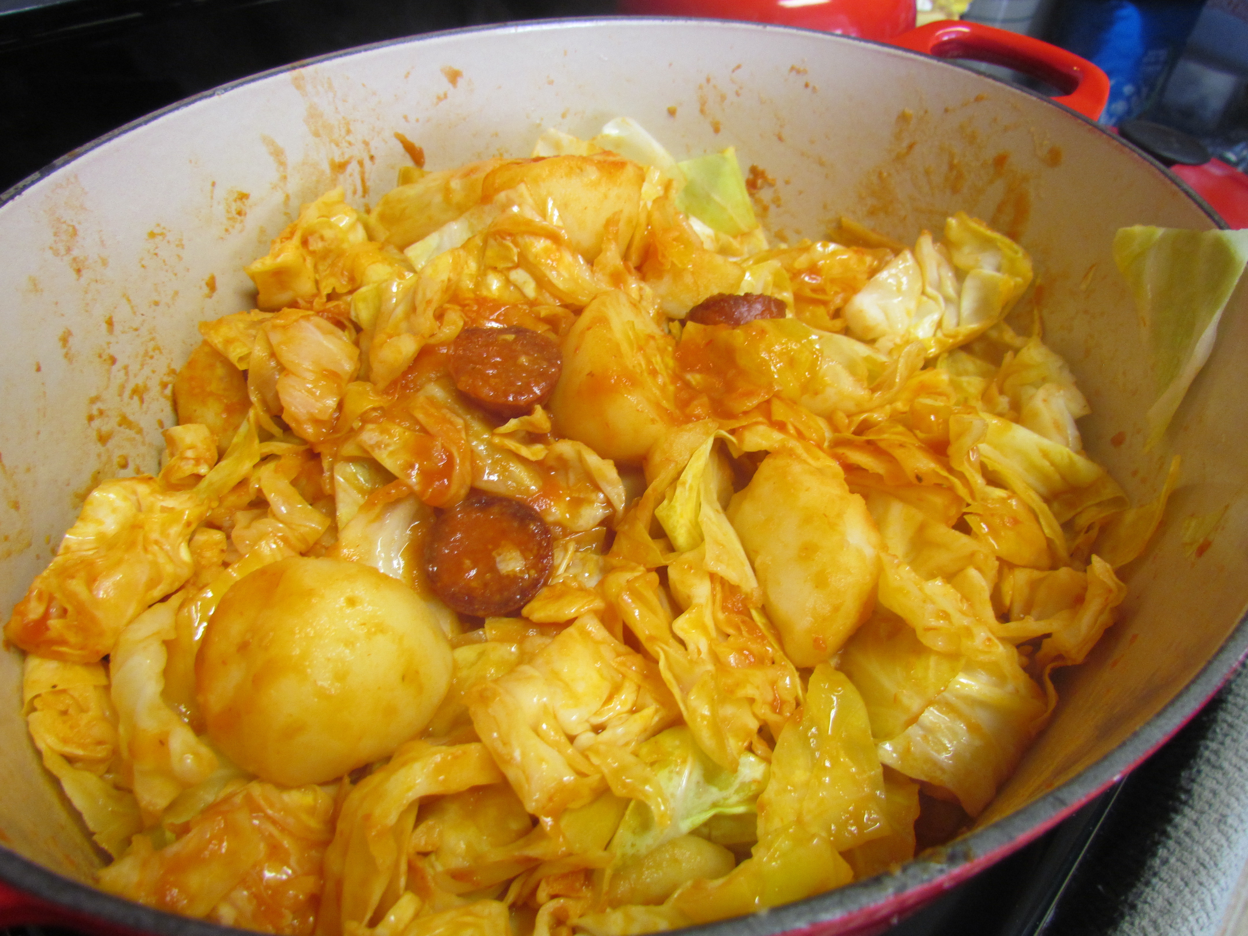 Cabbage And Potatoes  Nanny's Cabbage Potatoes and Pepperoni