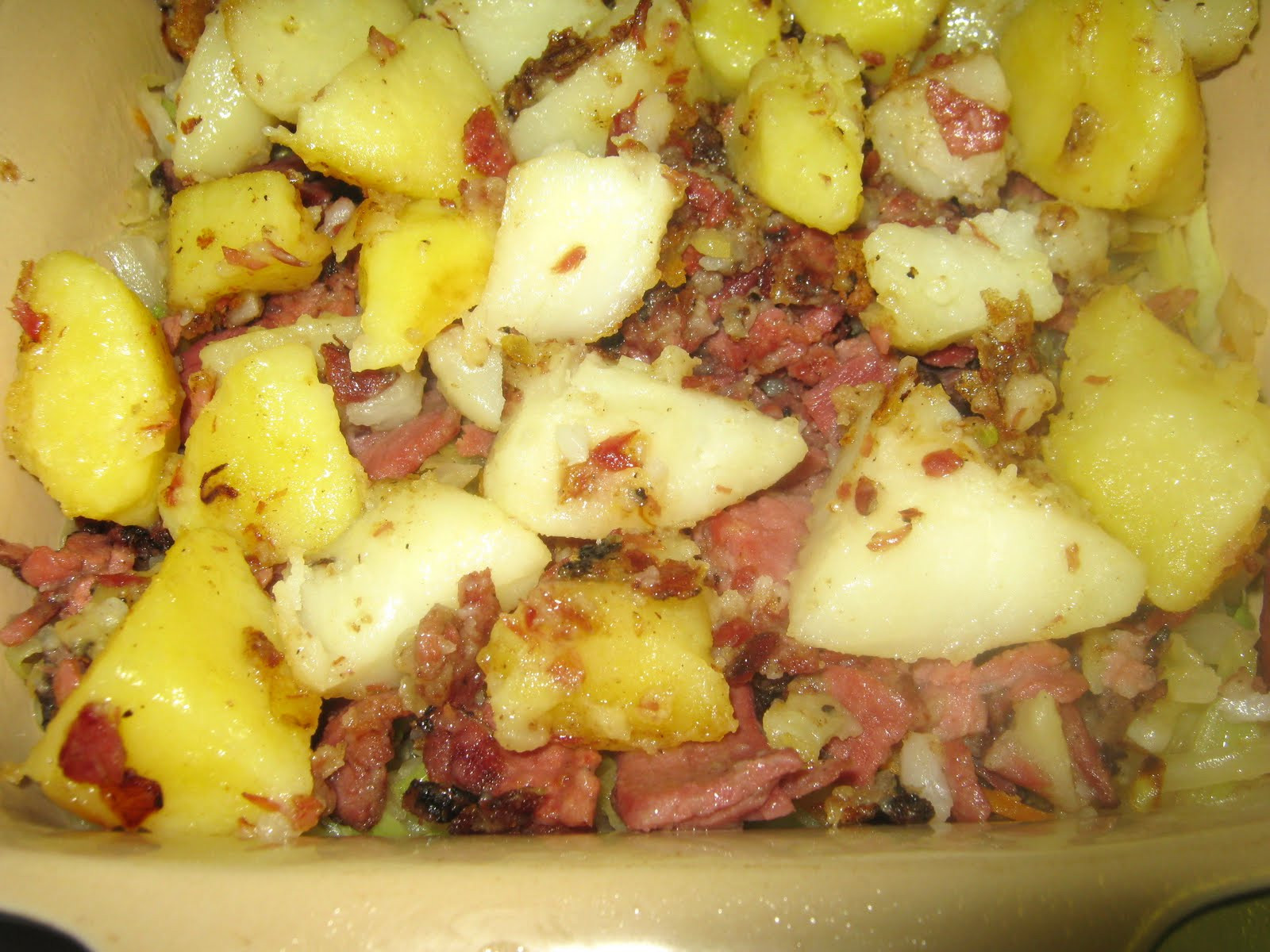 Cabbage And Potatoes  Pastrami Cabbage Potatoes and ions