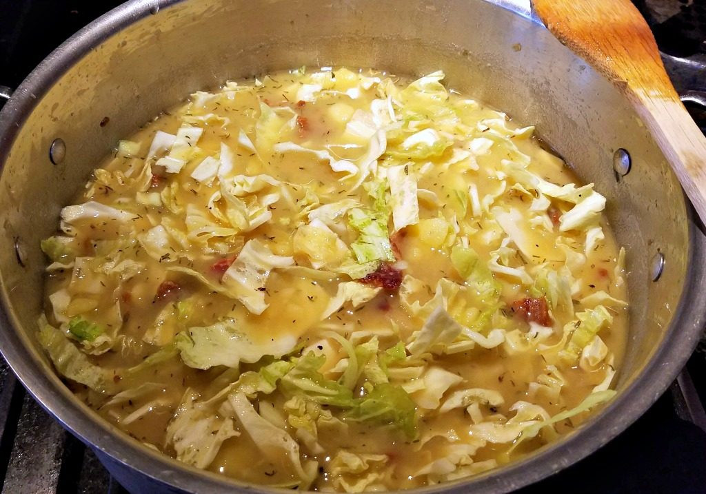 Cabbage And Potatoes  Bacon Potato and Cabbage Soup fort Food Recipe