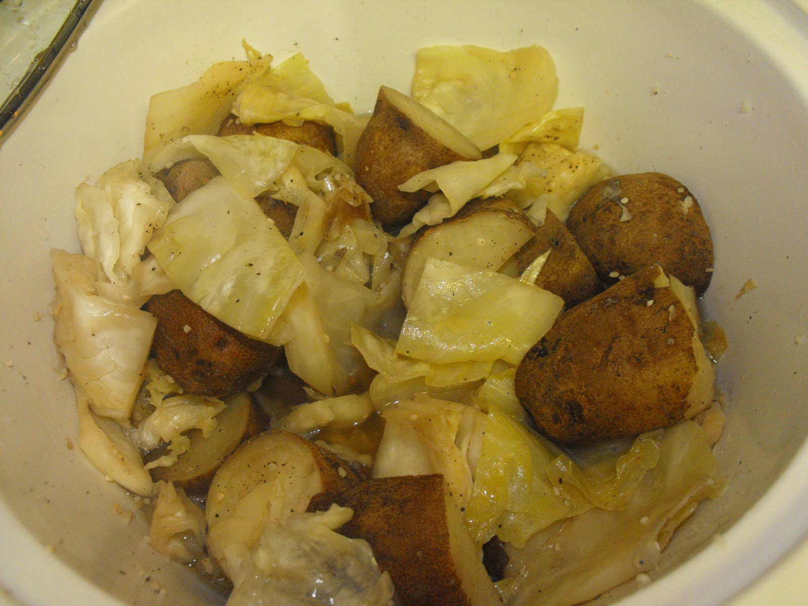 Cabbage And Potatoes  Our Everyday Harvest Crock Pot Cabbage and Potatoes