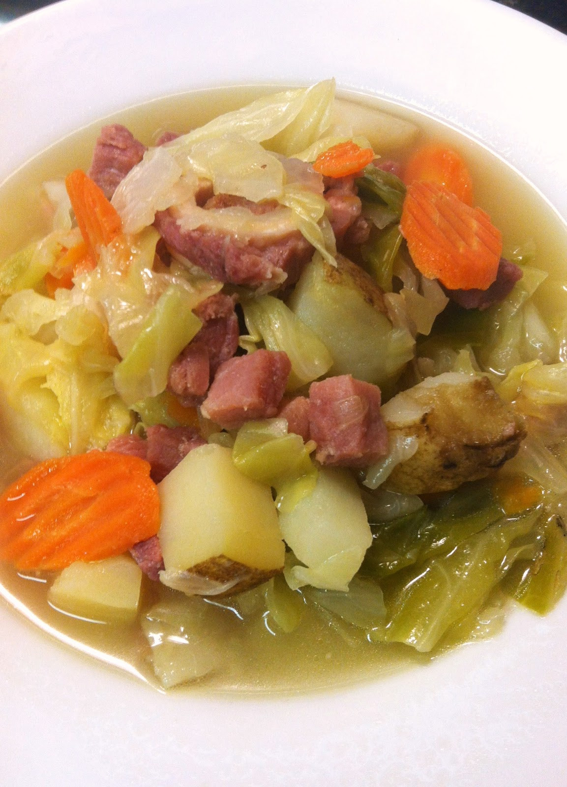 Cabbage And Potatoes  bonbons & biscotti Ham Cabbage and Potato Soup