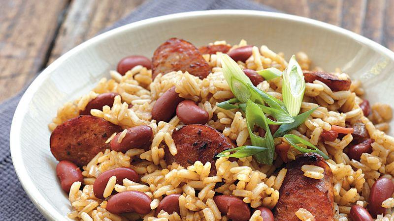 Cajun Rice And Beans  Cajun Red Beans and Rice Recipe BettyCrocker