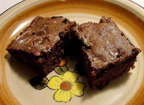 "Cake Like Brownies  Cake like brownies with ""snow"" on them"