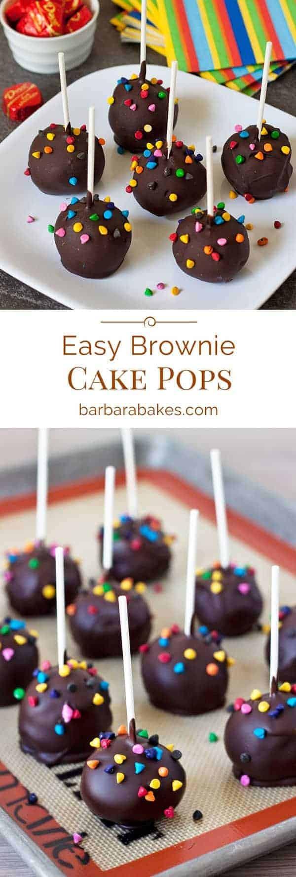 Cake Pops Recipe Easy  Easy Brownie Cake Pops Recipe from Barbara Bakes