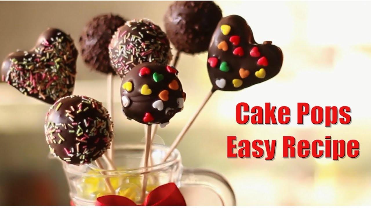 Cake Pops Recipe Easy  Easy Cake Pops Super Easy Recipe Kids Dessert Recipe