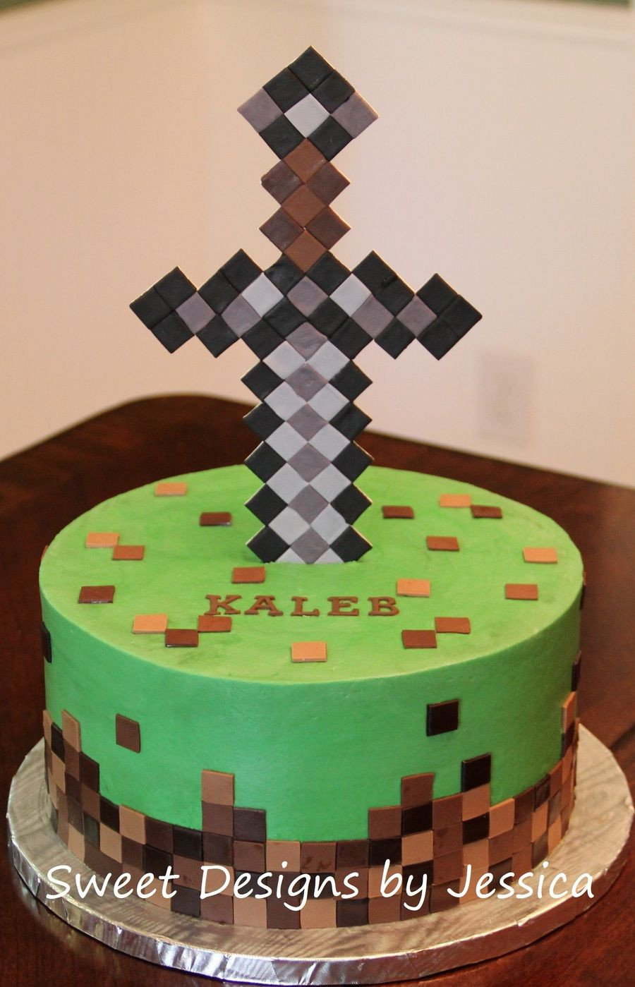 Cake Recipe Minecraft  Minecraft themed cake