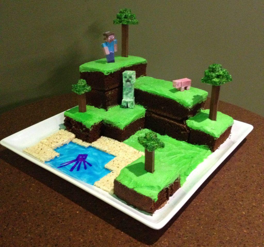 Cake Recipe Minecraft  Instrctables Minecraft world cake recipe and inspiration