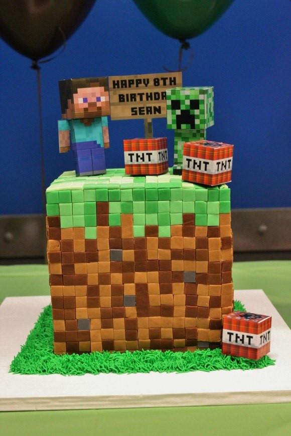 Cake Recipe Minecraft  Minecraft Birthday Cakes Recipes