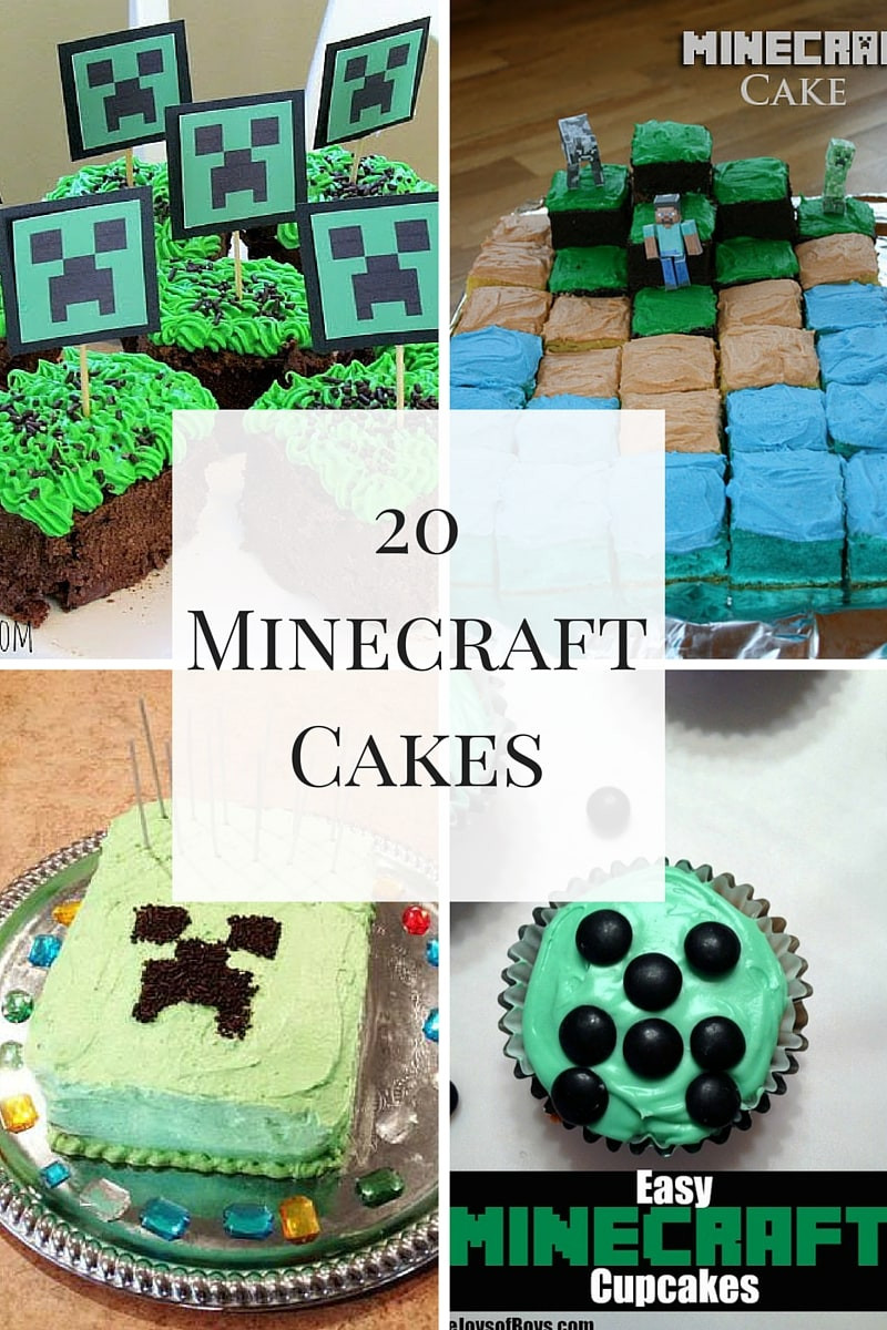Cake Recipe Minecraft  Awesome Minecraft Cakes For A Spectacular Birthday Party