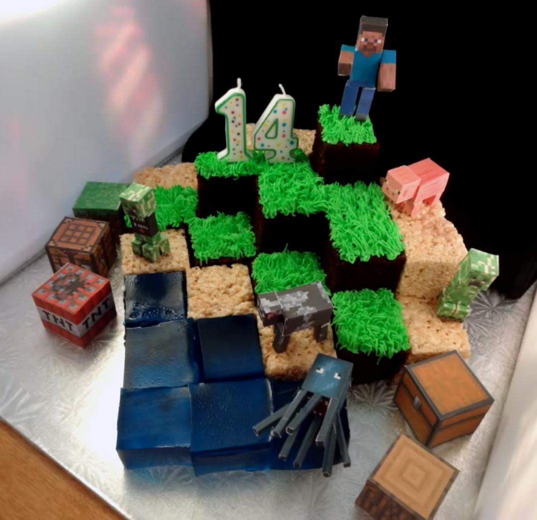 Cake Recipe Minecraft  Minecraft individual block cake recipe and idea