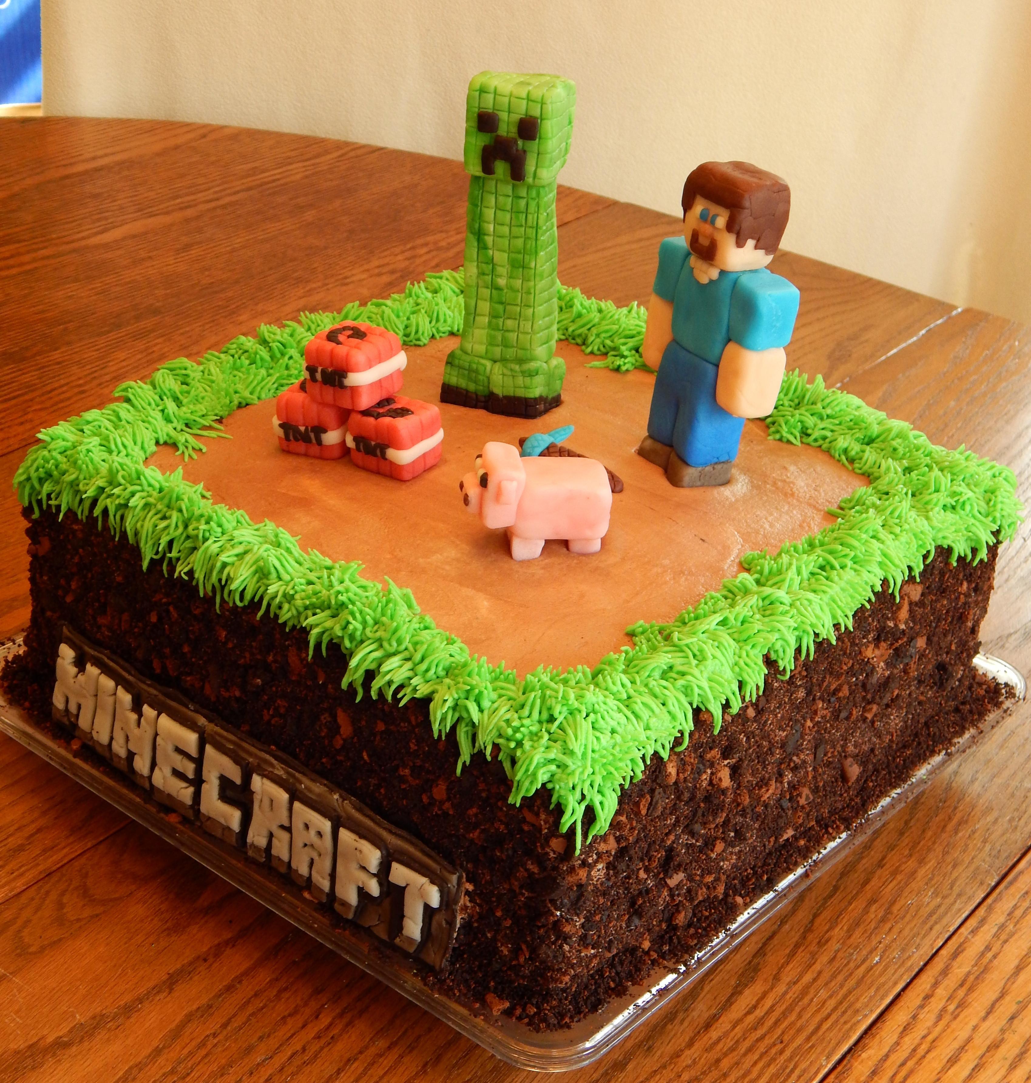 Cake Recipe Minecraft  Minecraft Cake CakeCentral
