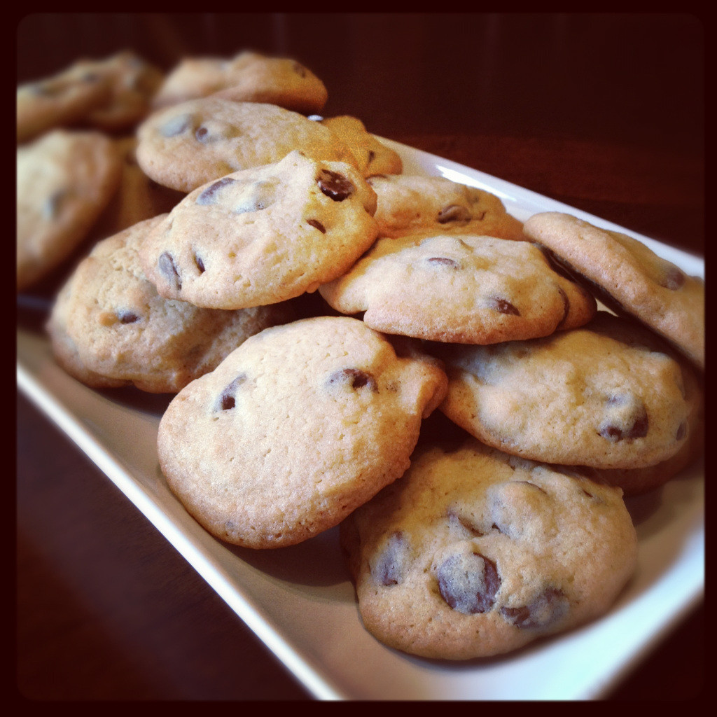 Cakey Chocolate Chip Cookies  martha's cakey chocolate chip cookies