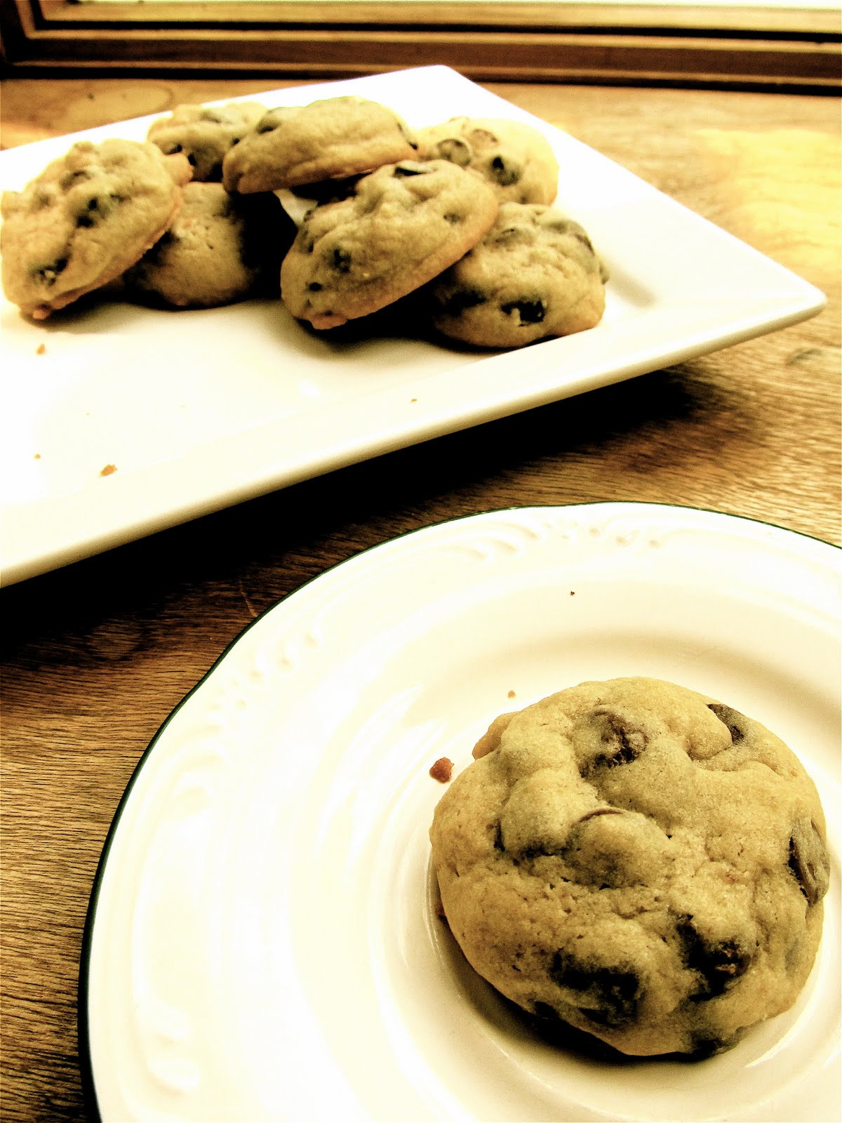 Cakey Chocolate Chip Cookies  Mary Quite Contrary Bakes Soft and Cakey Chocolate Chip
