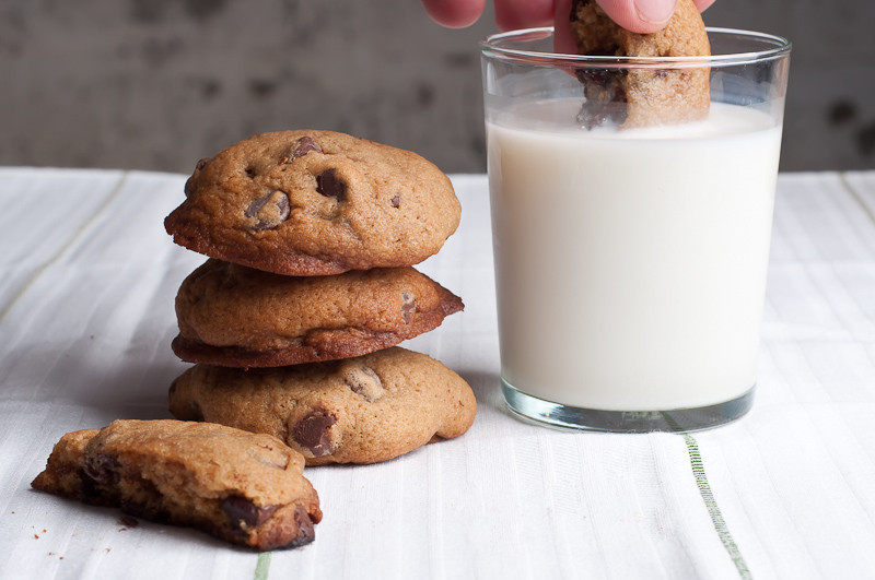 Cakey Chocolate Chip Cookies  Thick and Cakey Chocolate Chip Cookies – Recipe