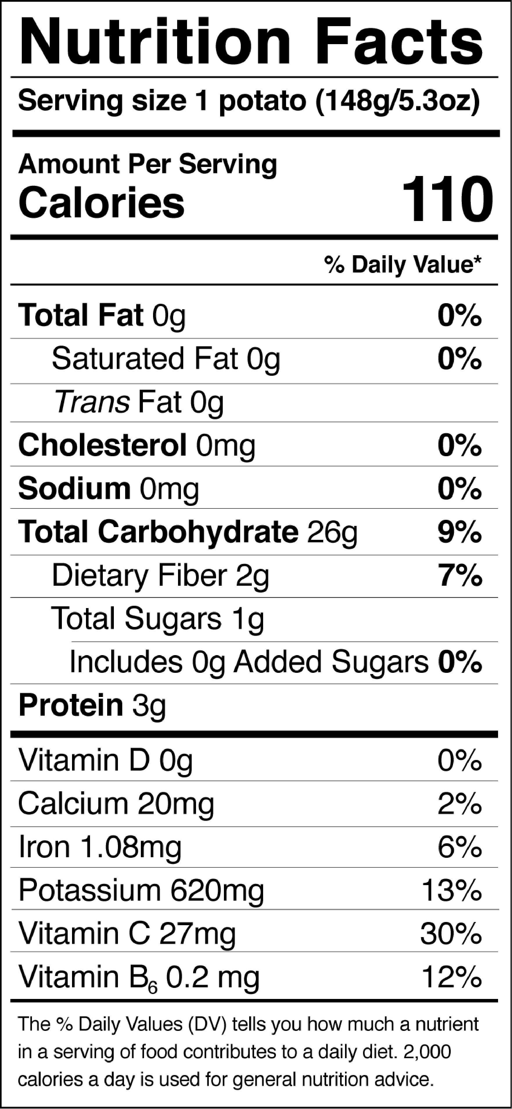 Calories In Medium Potato  Consumer