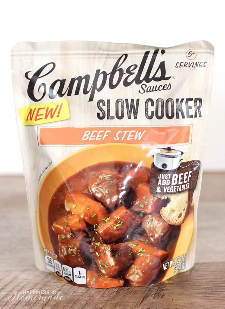 Campbell'S Slow Cooker Sauces  Slow Cooker Rustic Beef Stew Happiness is Homemade